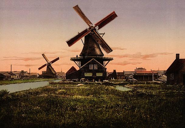 windmolens, vroeger en nu, aardrijkskunde oefenen