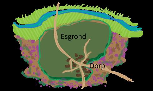 Esdorp, plattegrond, aardrijkskunde, groep 8