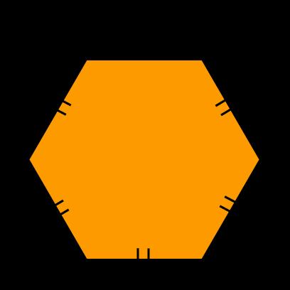 Veelhoek, zeshoek, 8 cm, gelijke zijden, gelijke zijdes, omtrek
