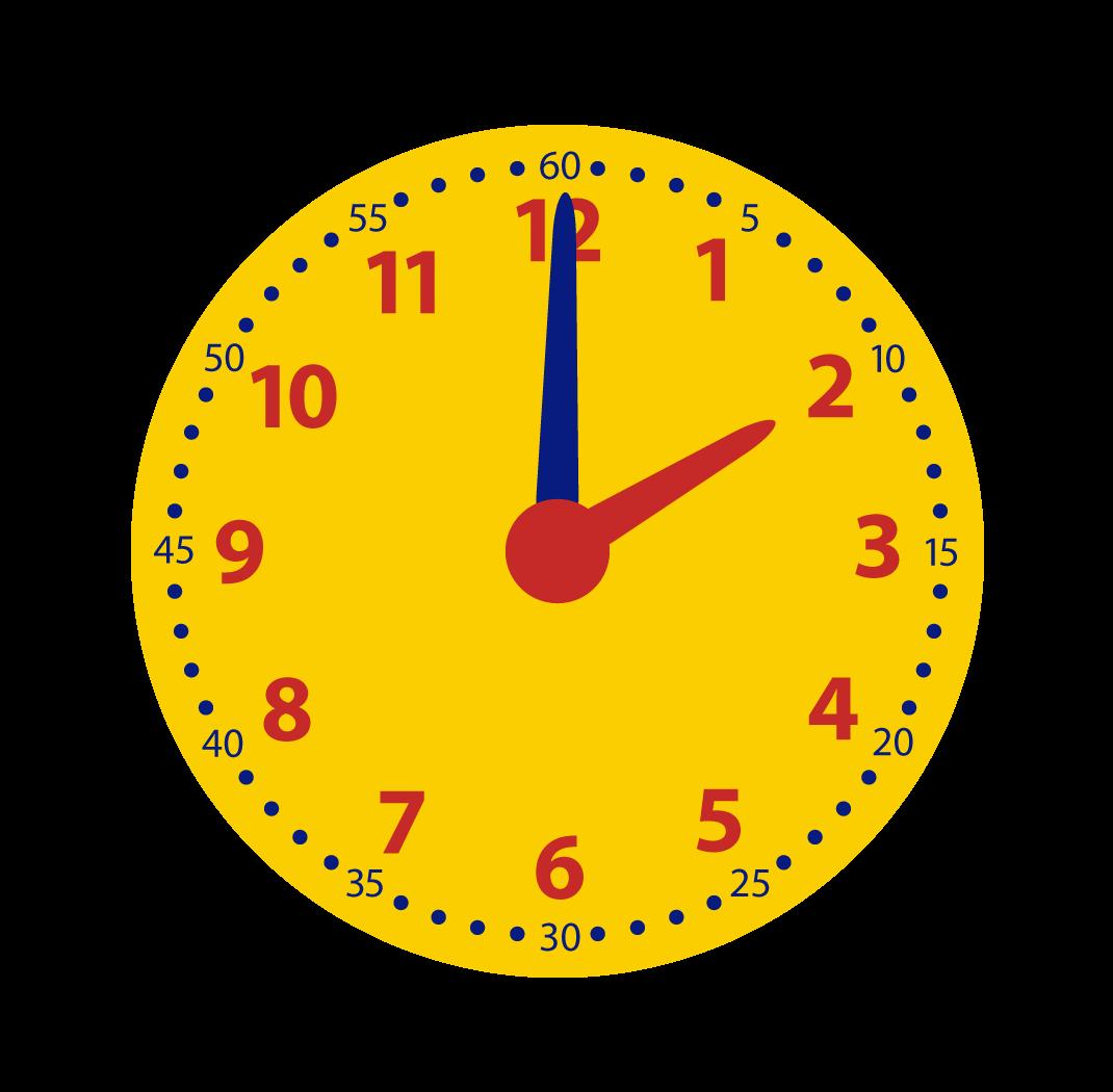 hele uren aflezen op de klok