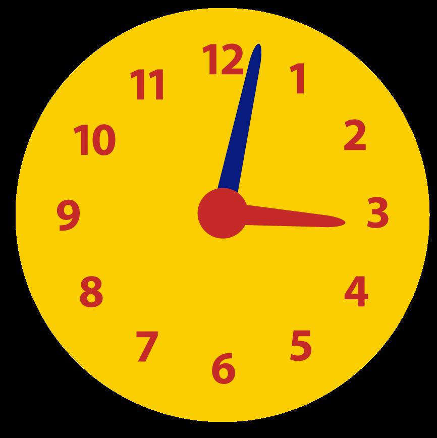Een paar minuten over het hele uur. Minuten aflezen op de klok. Leren klokkijken.