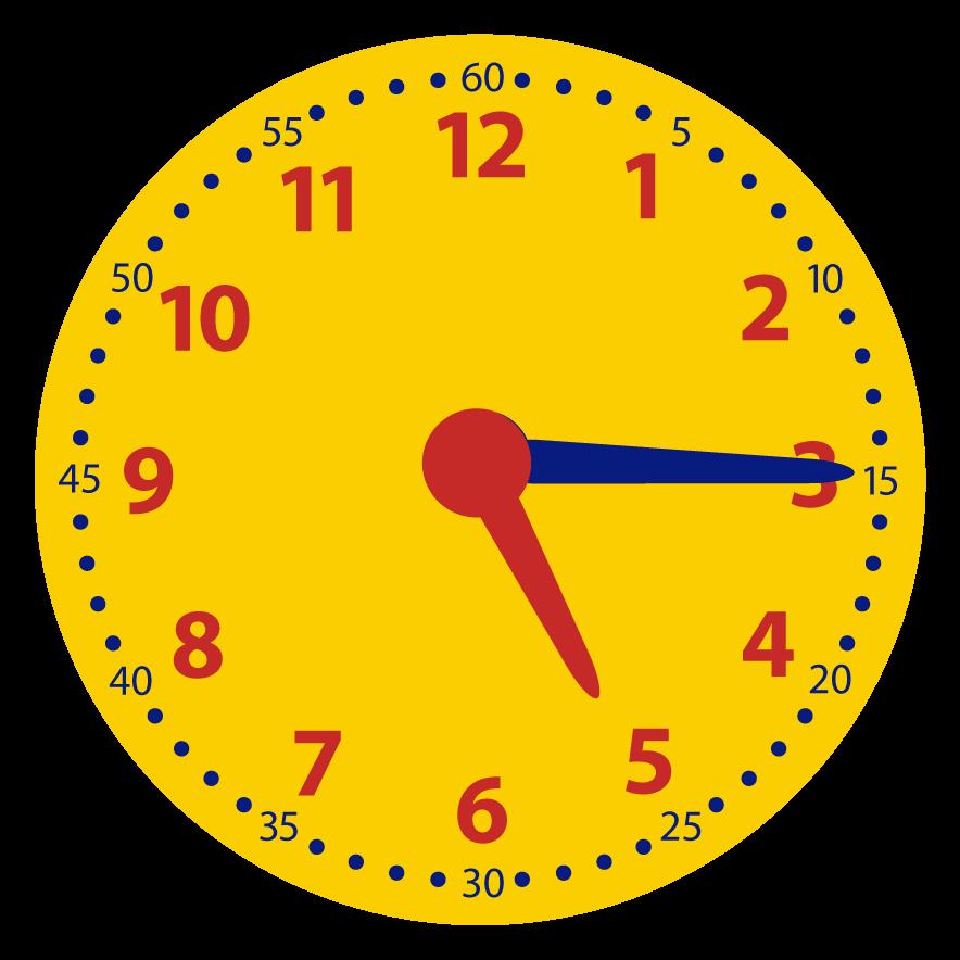 Kwart over op de digitale klok. Welke digitale klok hoort bij de analoge tijd?