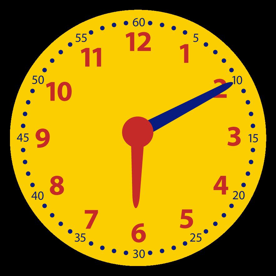 Minuten aflezen op de klok. Welke digitale tijd hoort er bij?