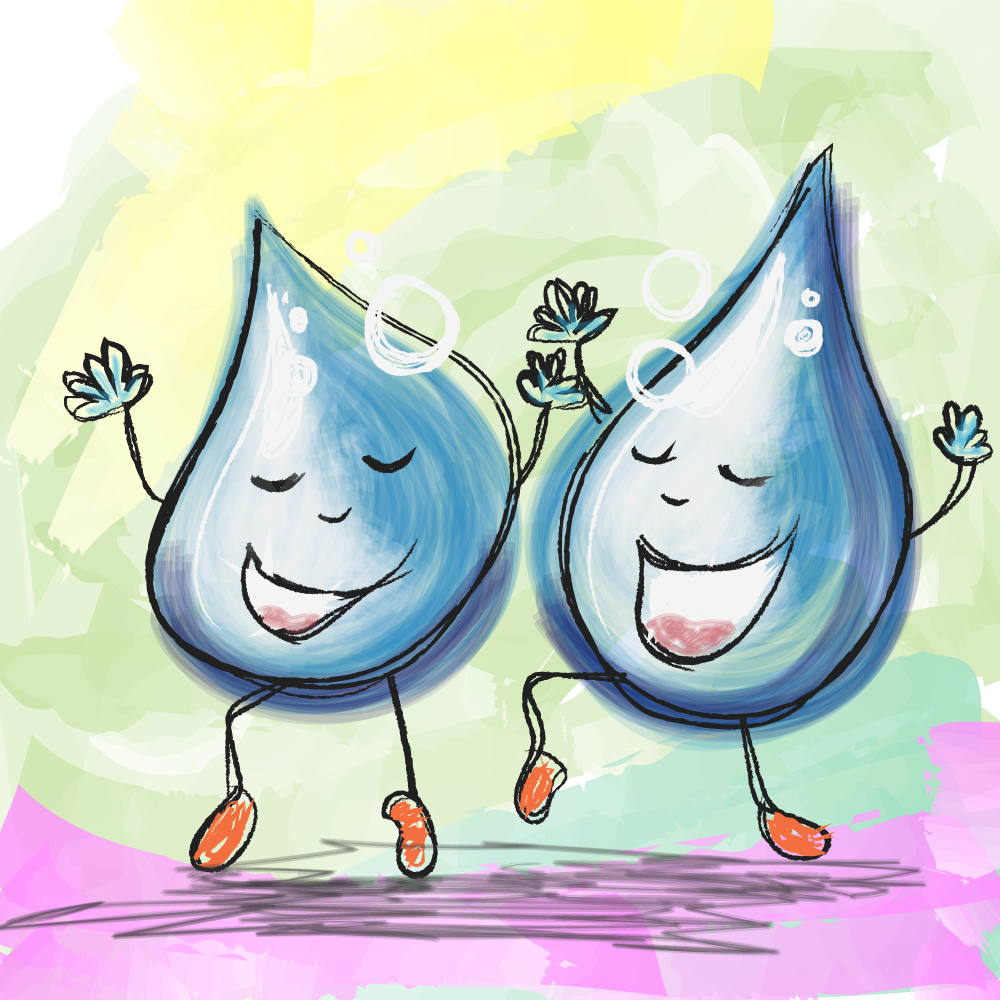 Spreekwoord zij lijken als twee druppels water