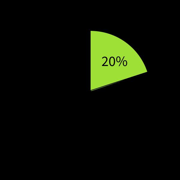 20% is gelijk aan 1/5
