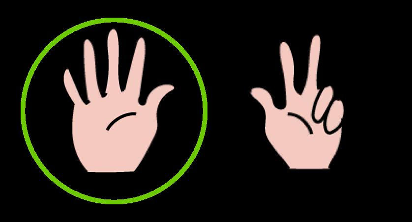 Aan één hand zitten vijf vingers, verkort leren tellen