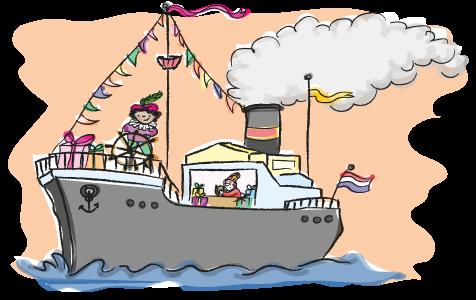 Sinterklaas op de boot, begrijpend lezen oefenen, groep 3