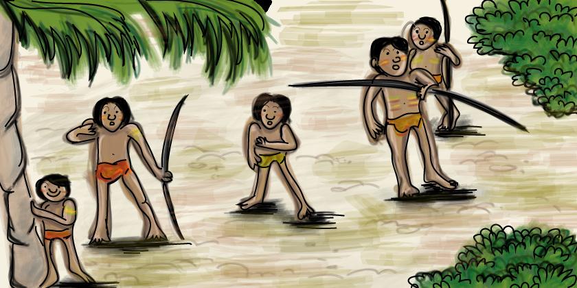 Begrijpend lezen online oefenen groep 7, onontdekte stammen