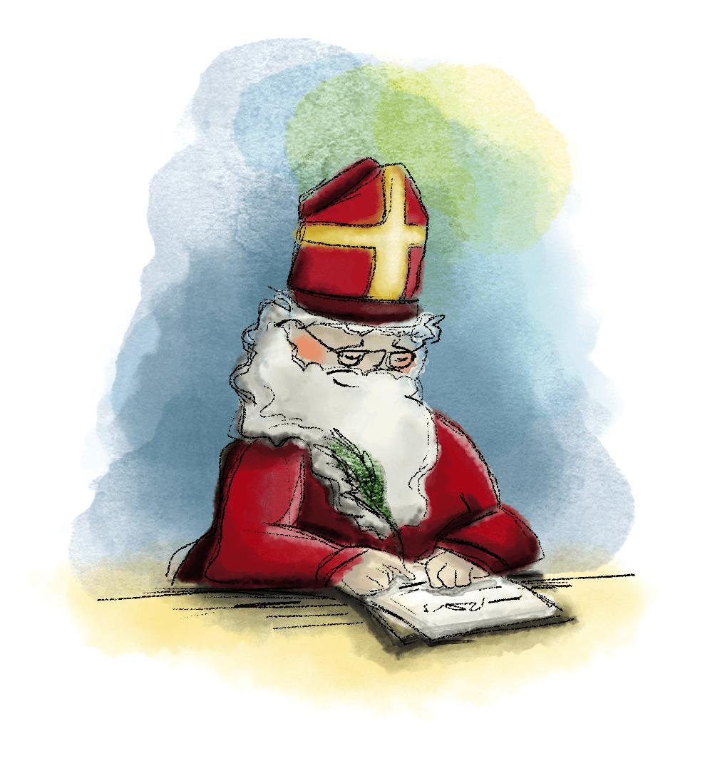 Begrijpend lezen, groep 6, gedichten, rijmen, Sinterklaas, Sint