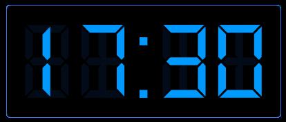 Klokkijken op de digitale klok.