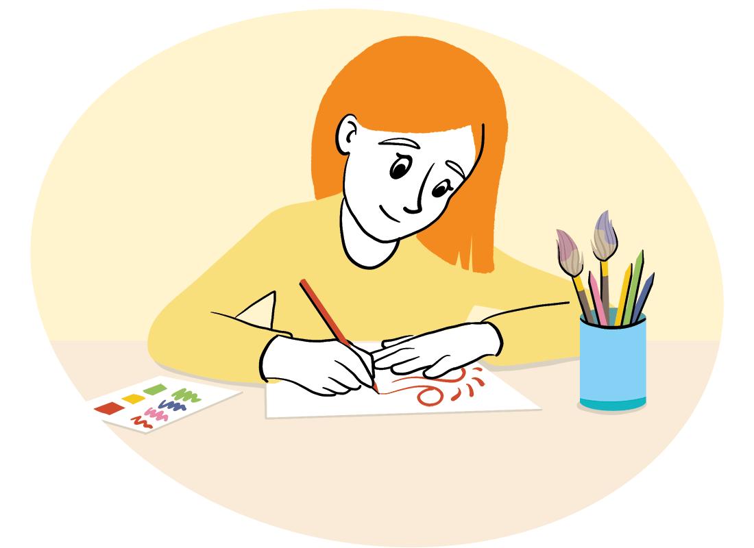 Ik maak een tekening - stamregel 2