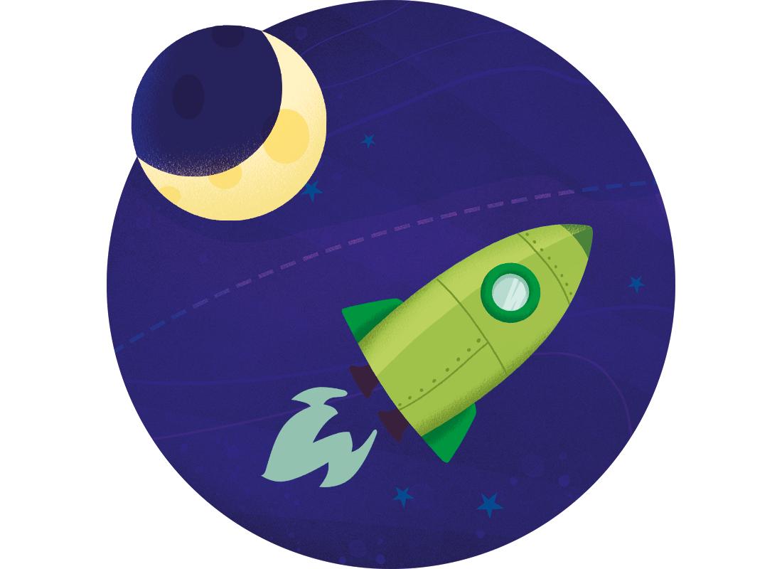 De eerste maanlanding. Jaartallen. Rekenen met de kalender.