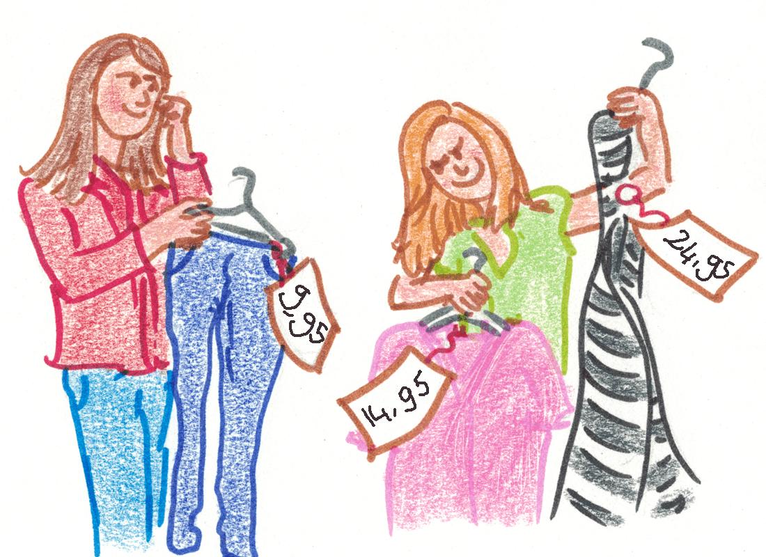 kleding kopen - Hoe reken je het uit?