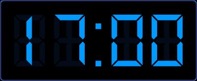 halve uren aflezen op de digitale klok. Een half uur later op de digitale klok.
