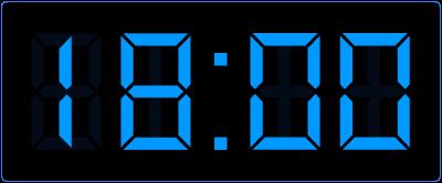 Online oefenen met het digitaal klokkijken. Halve uren op de digitale klok.