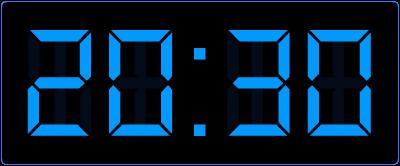 halve uren op de digitale klok leren