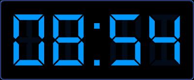 Oefenen met het klokkijken op de digitale klok. Hoe laat is het?