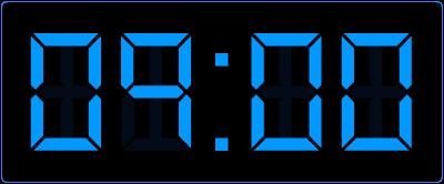 Klokkijken op de digitale klok. Een half uur vroeger.