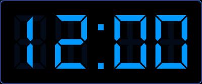 hele uren aangeven op de digitale klok.