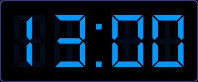Hele uren oefenen op de digitale klok.