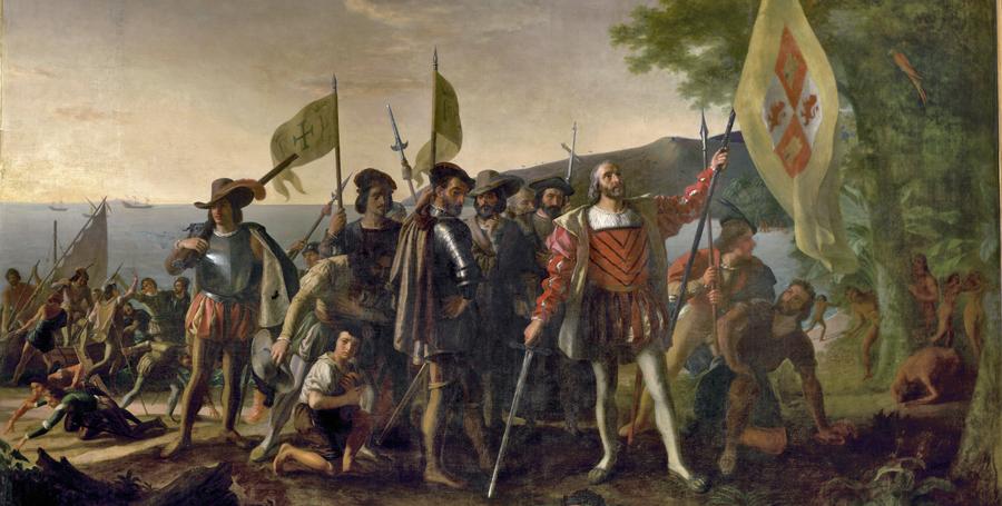 Tijd van de ontdekkers en hervormers - Columbus ontdekt 'Amerika'.