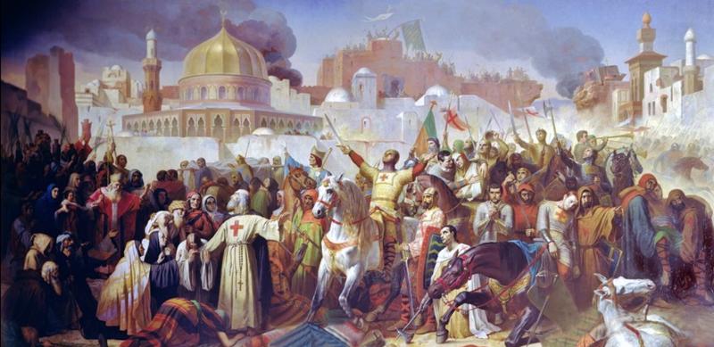 Tijdvak van steden en staten - De kruistochten - 1099 verovering Jeruzalem