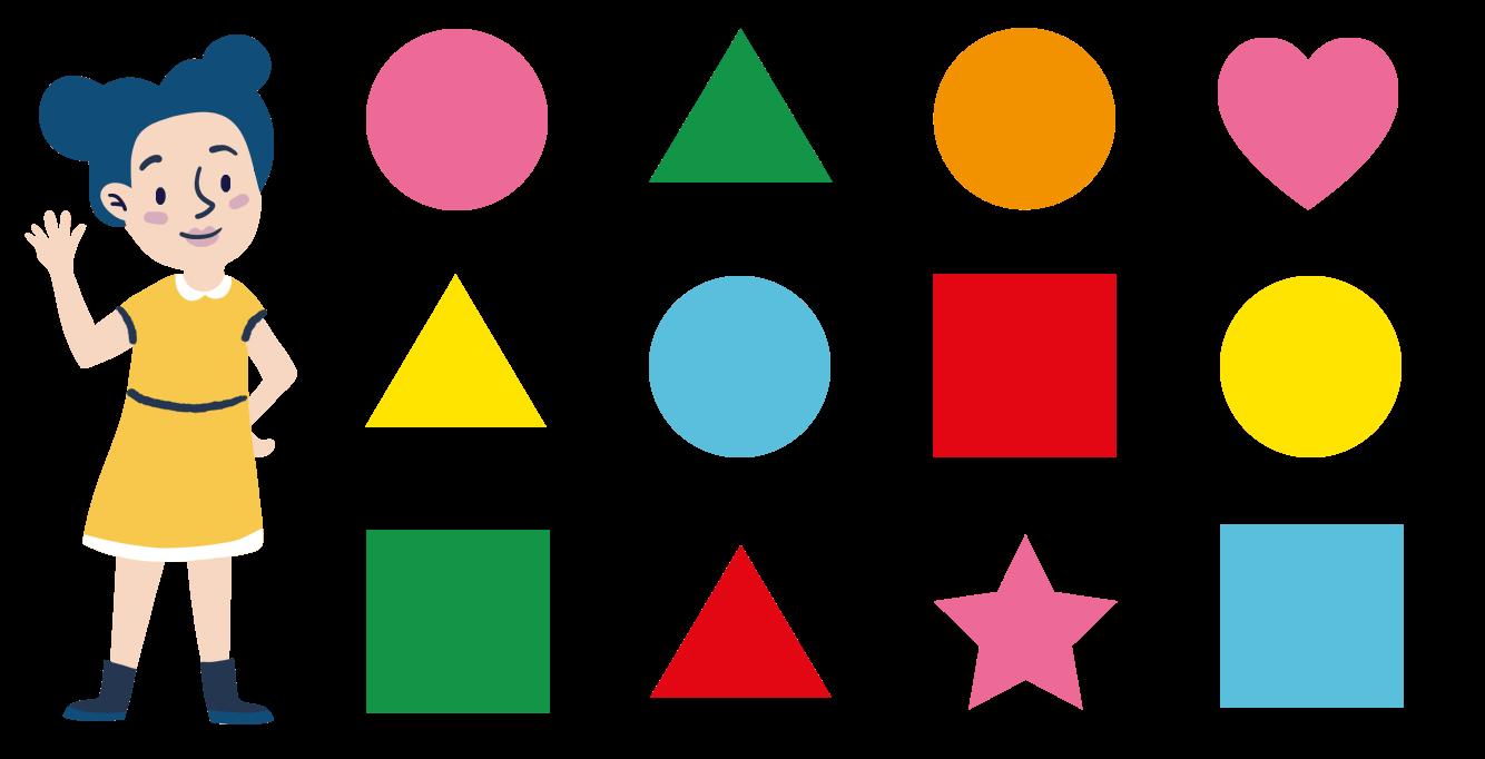vormen tellen, kleuters oefenen