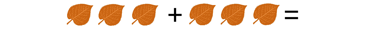 kleuters, tellen, optellen, groep 1, groep2, bewerkingen, junior einstein, herfst, bladeren