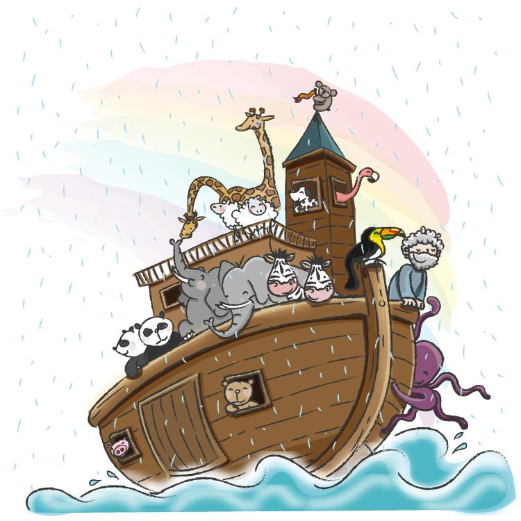 De ark van Noach, bijbelse verhalen voor jonge kinderen