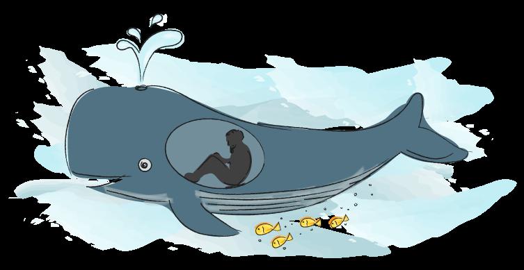 Jona in de walvis.