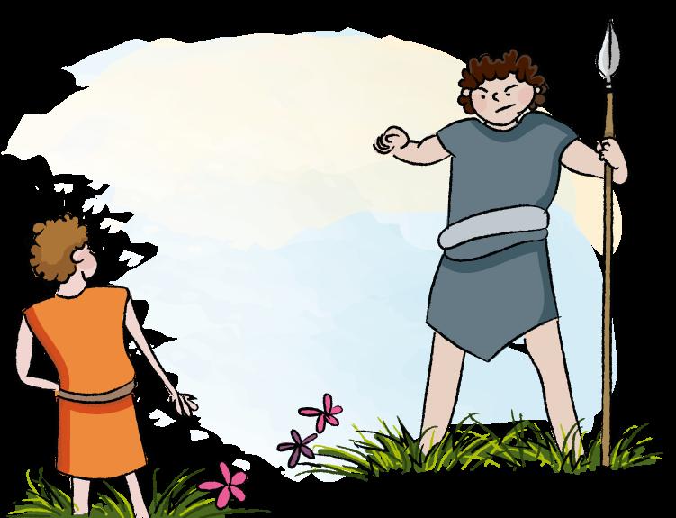 David en Goliath. Bijbelse verhalen voor kinderen.