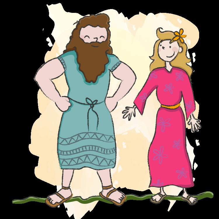 Simson is sterk. Bijbelse teksten voor kinderen.