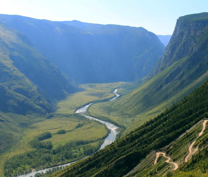 Waterkringloop - berg - rivier
