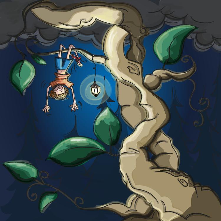 Sjaak en de bonenstaak. Sprookjes. Hoe groeien planten? Natuuronderwijs oefenen