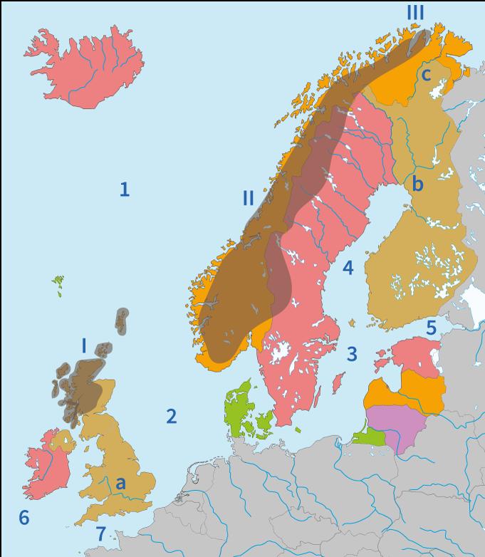 topo, topografie, Europa, Noord-Europa, rivieren, wateren, kanalen, Junior Einstein, aardrijkskunde