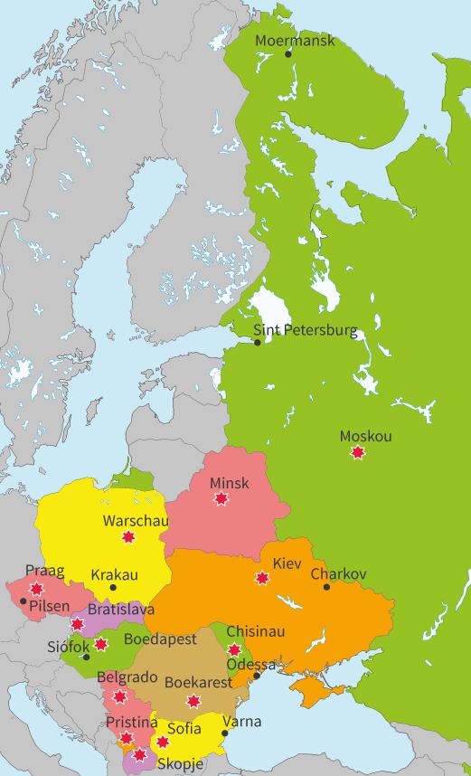 junior einstein, topografie, oefenen, oost, europa, landen, steden