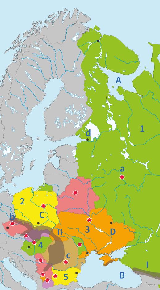 junior einstein, topografie, oefenen, oost, europa, wateren, gebergten, rivieren