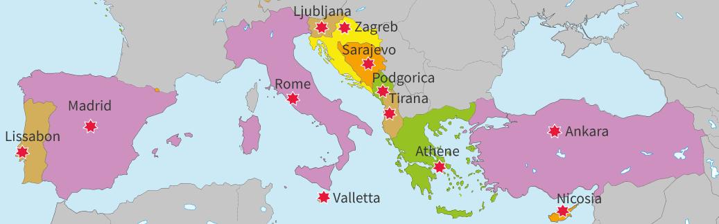 junior einstein, topografie, oefenen, zuid, europa, landen, hoofdsteden