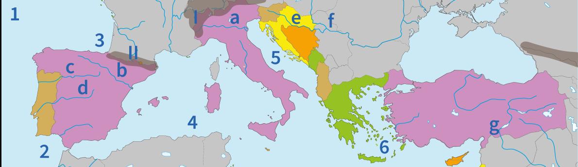 junior einstein, topografie, oefenen, zuid, europa, landen, wateren, gebergten, rivieren
