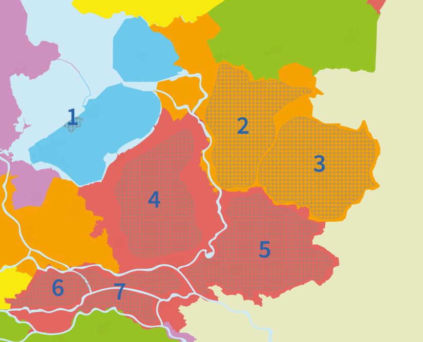 junior einstein, gebieden, regio's, oefenen, topografie, oost, nederland