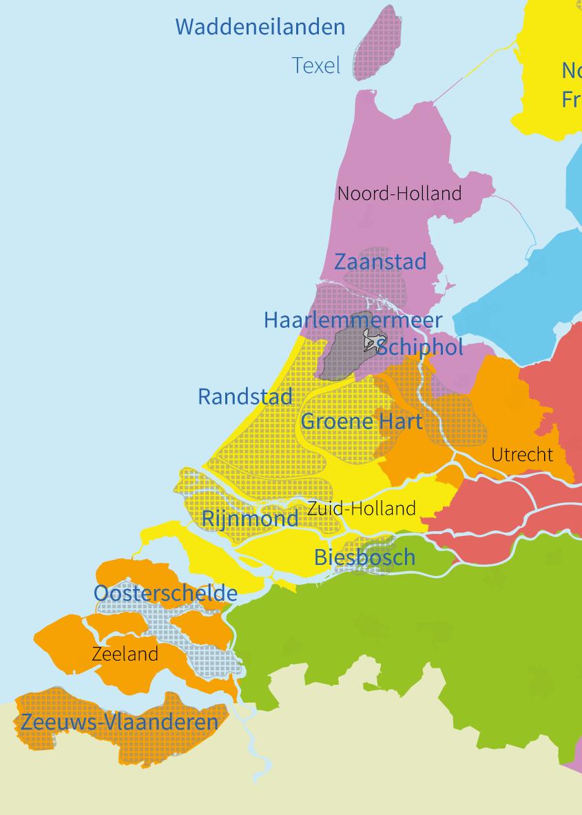 junior einstein, oefenen, topografie, gebieden, regio's, west, nederland