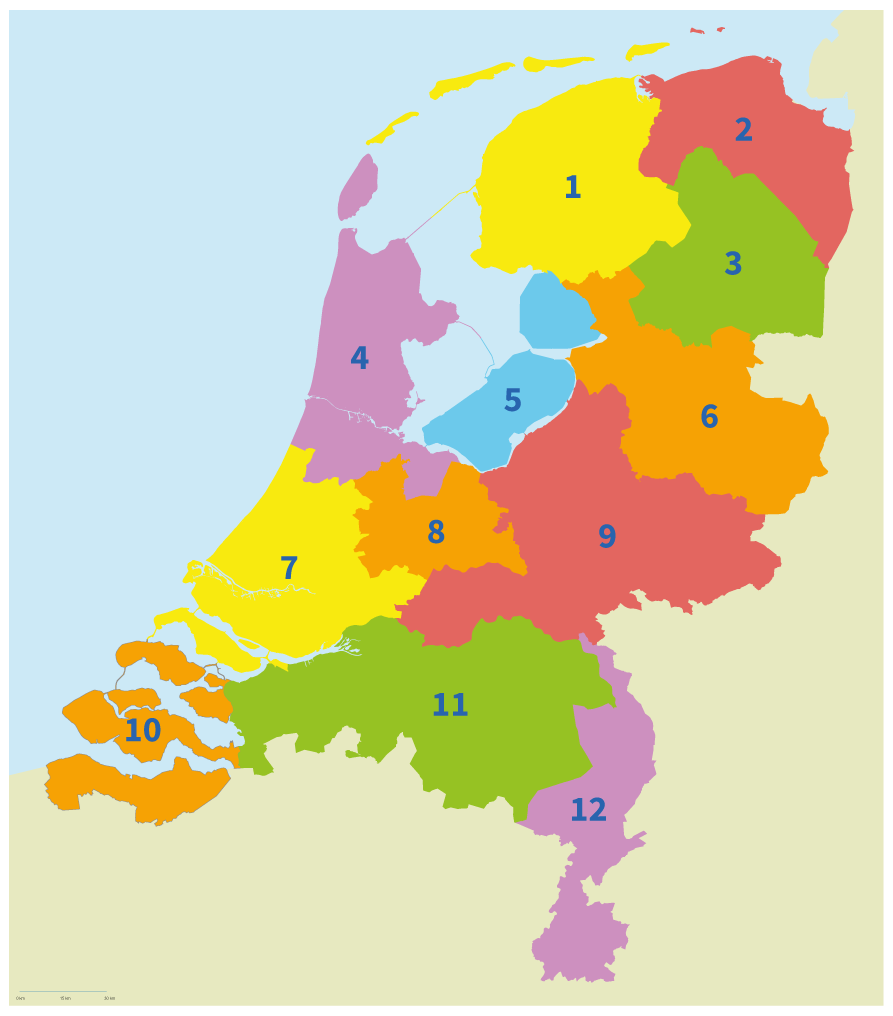topo Nederland, alle provincies