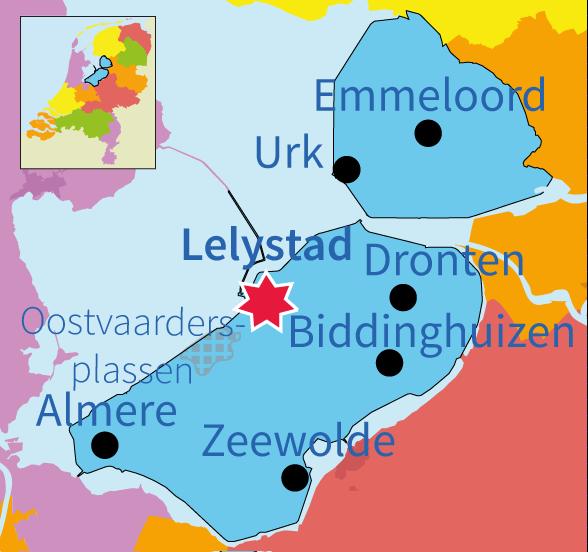 topografie, oefenen, junior einstein, provincie, Flevoland, Nederland