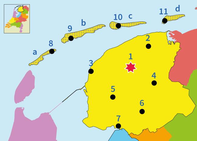 topografie, oefenen, junior einstein, provincie, Friesland, Nederland