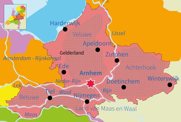 topografie, oefenen, junior einstein, provincie, Gelderland, Nederland