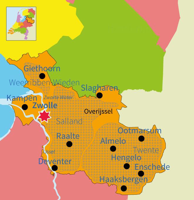topo, topografie, Nederland, provincie, provincies, Overijssel, steden, gebieden, Zwolle, Twente, Junior Einstein