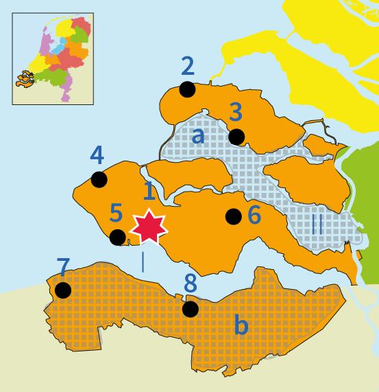 topo, topografie, Junior Einstein, Nederland, provincie, provincies, Zeeland, Middelburg