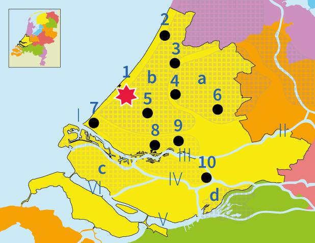 topografie, junior einstein, Nederland, Zuid-Holland, provincie, plaatsen,