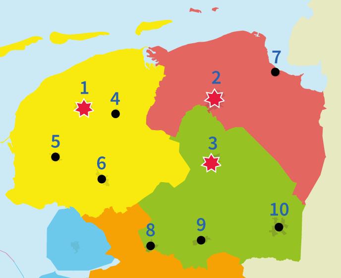 Junior einstein, noord-nederland, provincies, oefenen, topografie