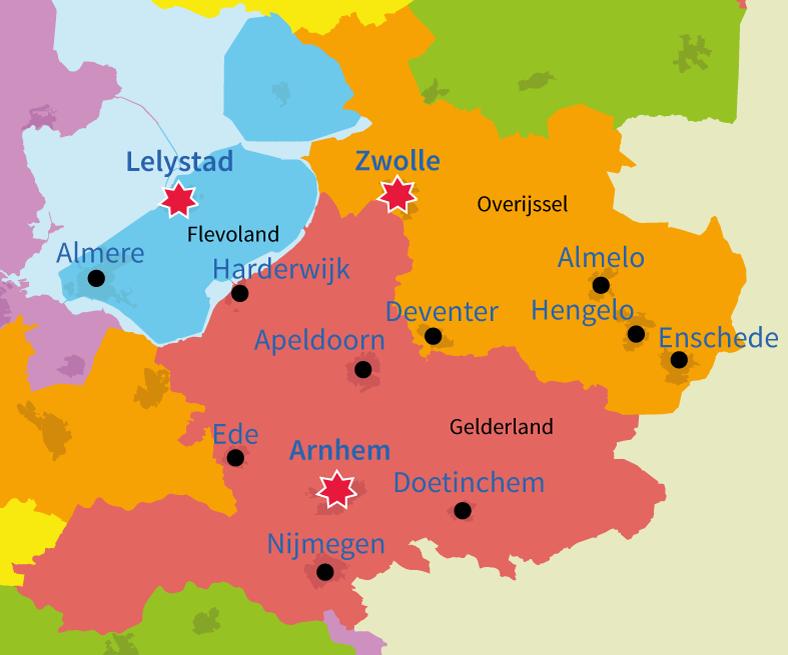 topo oefenen, steden in Nederland